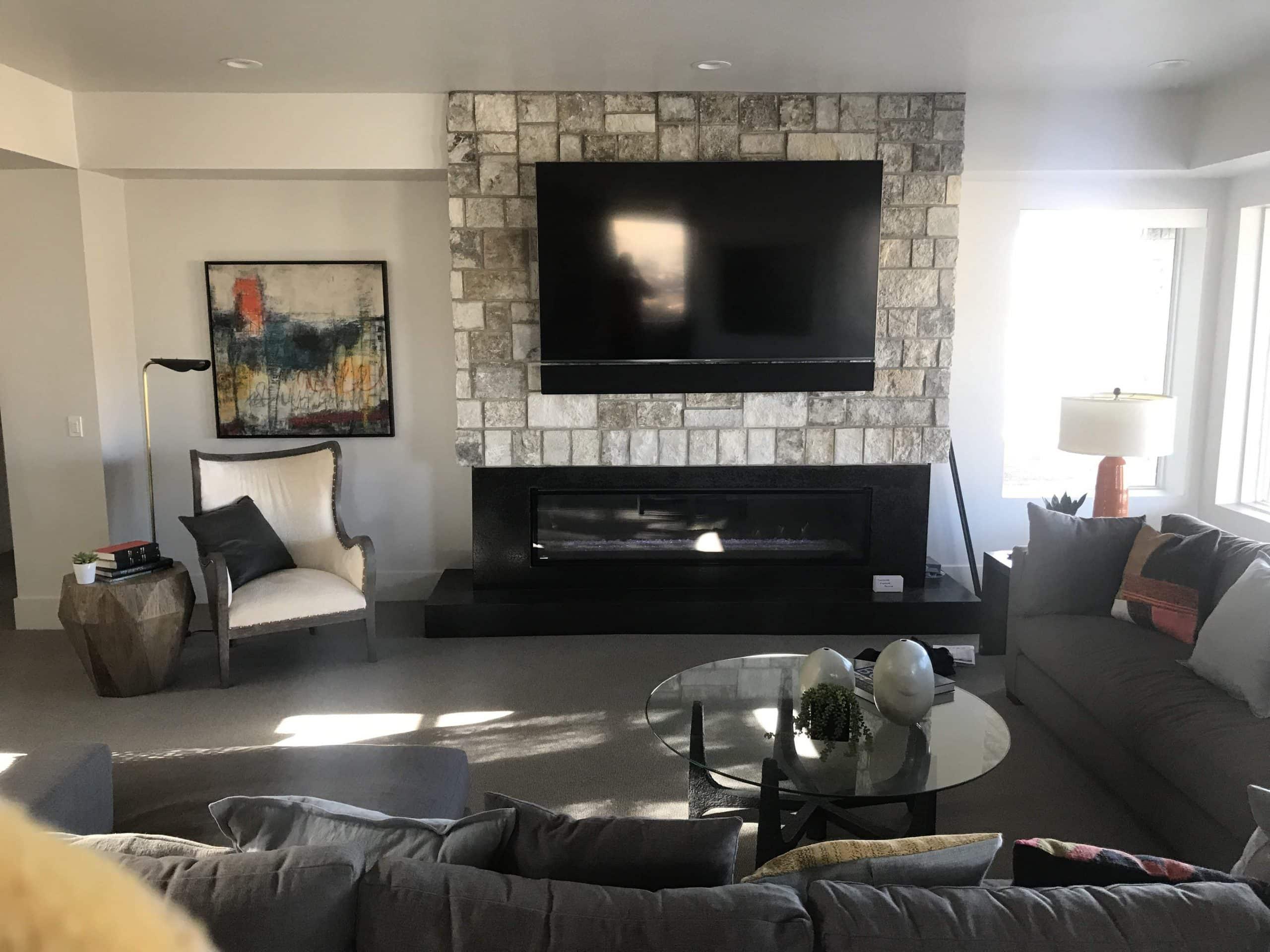 Indoor Fireplace Black