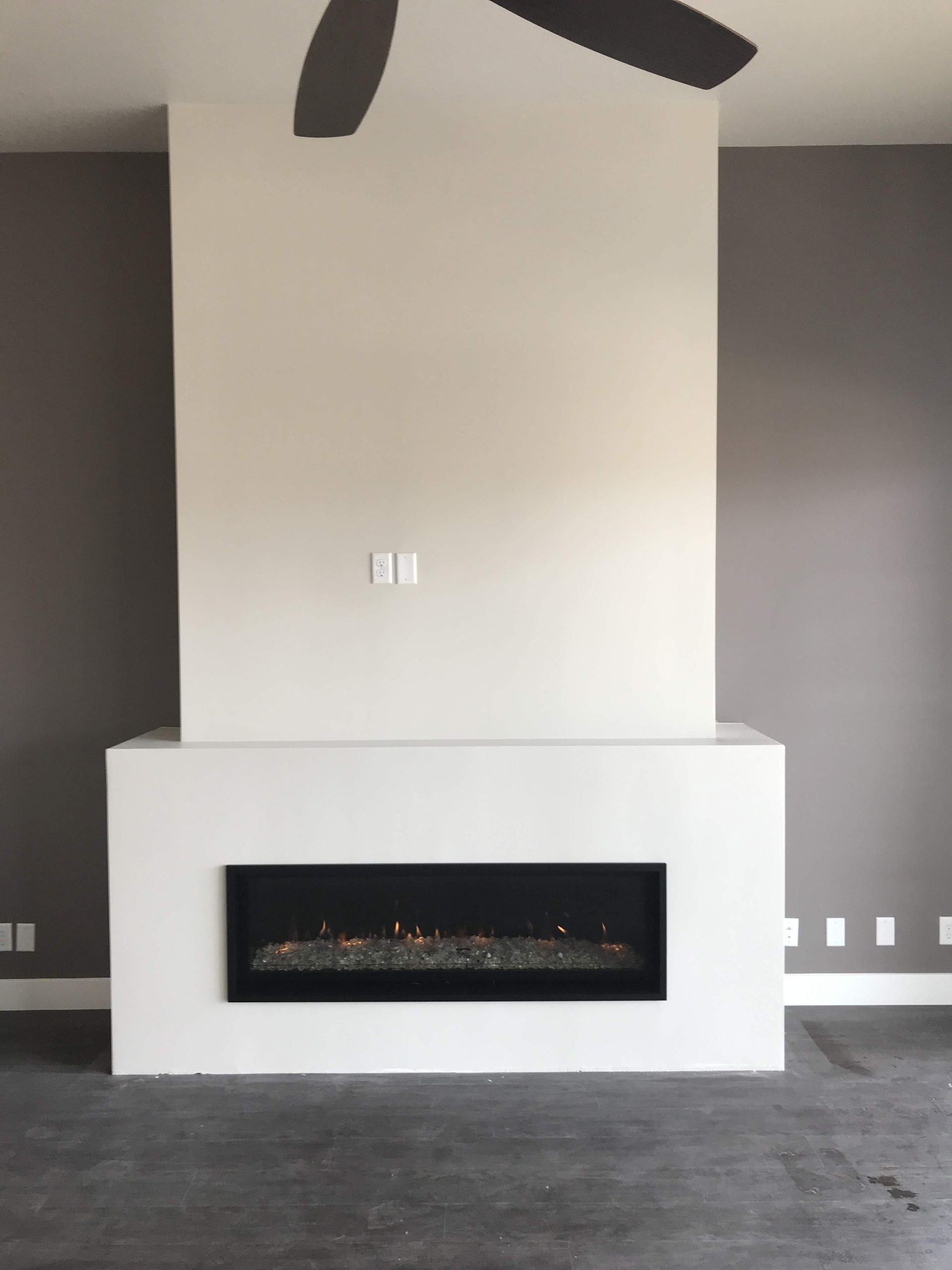 Indoor Fireplace Modern White